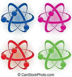 或者, 原子, 化學, 符號, 摘要, 矢量, 醫學
