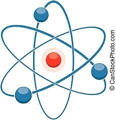 或者, 原子, 摘要, 模型, 分子, 圖象, 矢量, 套間
