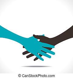或者, 合作, 握手