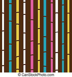 或者, 圖案, 鮮艷, 結構, retro, seamless, 竹子