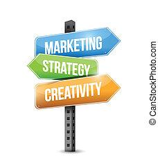 戰略, 創造性, 銷售, 插圖, 簽署
