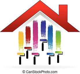 房子畫, 標識語