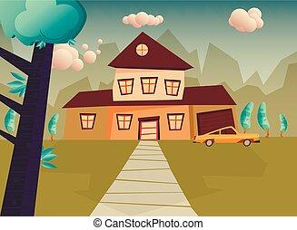 房子, 卡通