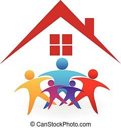 房子, 家庭, 標識語