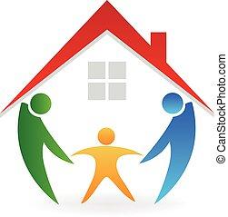房子, 新的家庭, 標識語
