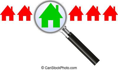 房子, 概念, -, 搜尋
