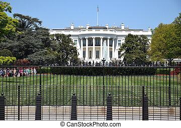 房子, 白色, dc, 華盛頓