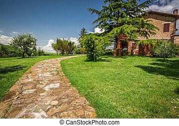 房子, 石頭, 路, 國家