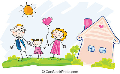 房子, 移動, 家庭, 新