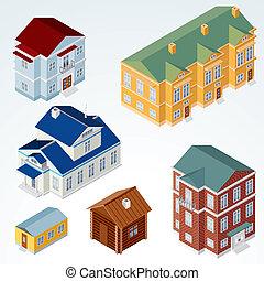 房子, 等量, 矢量, #1