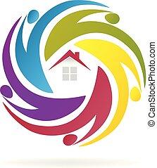 房子, 配合, 代理人, 事務, 標識語