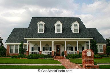 房子, 風格, 第一流, 新