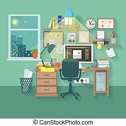 房間, 工作區