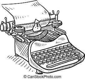 手冊, 葡萄酒, 略述, 打字机