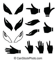 手勢, 各種各樣, 手
