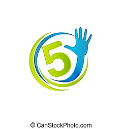 手指, 概念, 矢量, 5, 五, 手, 創造性, 黑色半面畫像, 幫助, 設計, 標識語