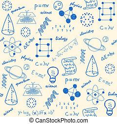 手, 畫, 科學, seamless, 圖象