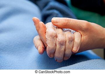 手, 老, 漸老的小心