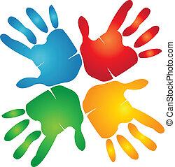 手, 鮮艷, 配合, 標識語, 大約