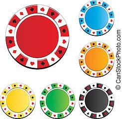 扑克片, 設置