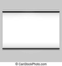 打掃, 白色的屏幕, 背景, 放映機