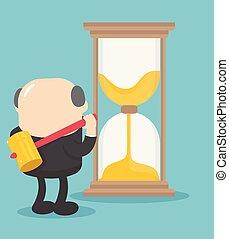 打破, 想法, 老板, 時間, 商人, hourglass