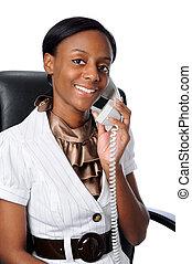 打電話給婦女, 年輕, 談話