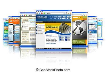 技術, 反映, 網站, 網際網路