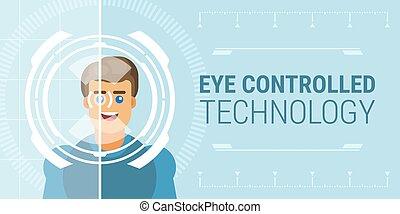 技術, 控制, 眼睛