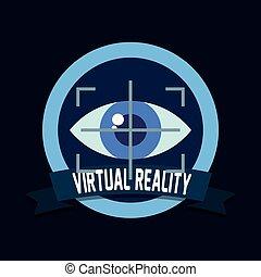 技術, 看法, 眼睛, 虛擬現實