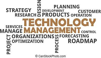 技術, 管理, -, 雲, 詞