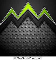 技術, 綠色的背景, 箭, 金屬, 打孔