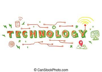 技術, 詞, 插圖