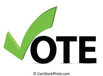 投票, 复選標記, 正文