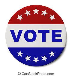 投票, 按鈕