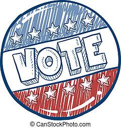 投票, 按鈕, 略述, 運動