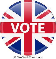 投票, 按鈕, 英國