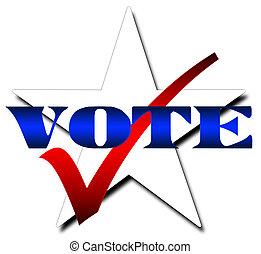 投票, 星