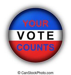 投票, 計數, 你