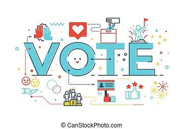 投票, 詞, 插圖