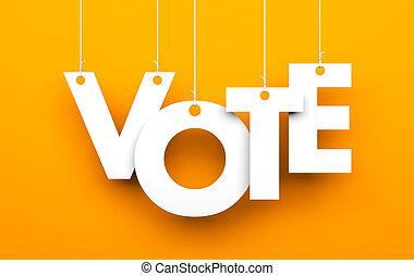 投票, metaphor., 信件, 線