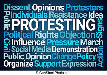 抗議, 詞, 雲