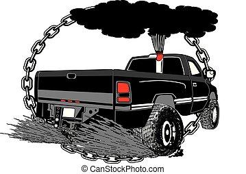 拉, canstock, 卡車, [converted].eps