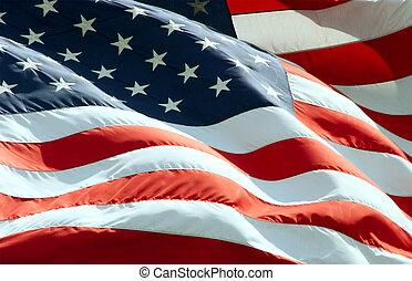 招手, 美國旗
