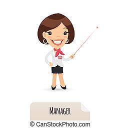 指針, 經理, 激光, 女性