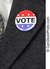 按鈕, 投票