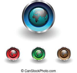 按鈕, 网, 全球, 地球