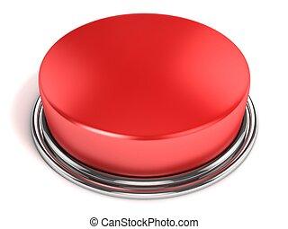 按鈕, 被隔离, 紅色