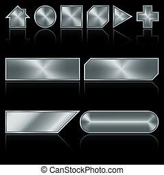 按鈕, 金屬