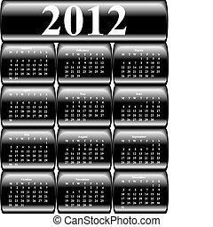 按鈕, 2012, 矢量, 日曆